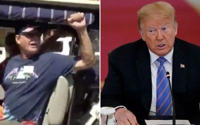 Trump retweets racist white power chant