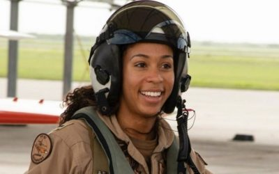 Naval officer turns out to be the first Black female tactical jet fighter pilot