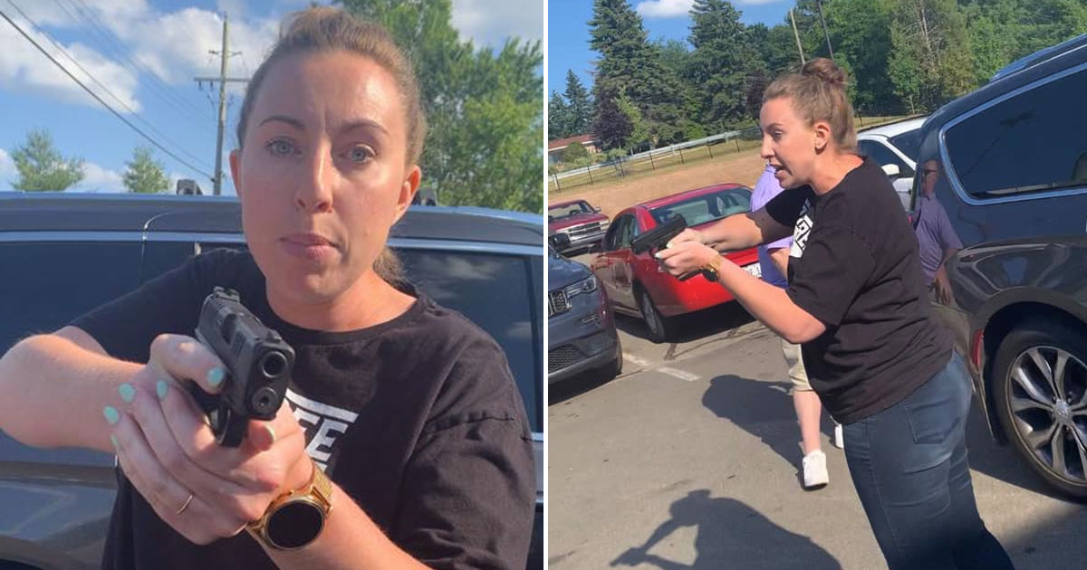 White lady pulls weapon on Black mother and high schooler after purportedly attempting to hit them with her vehicle