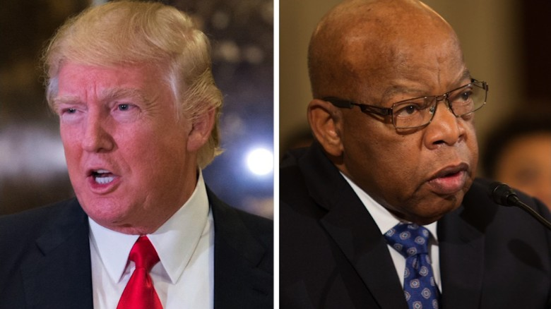 """Donald Trump on whether John Lewis' heritage is impressive: """"I can't say"""""""