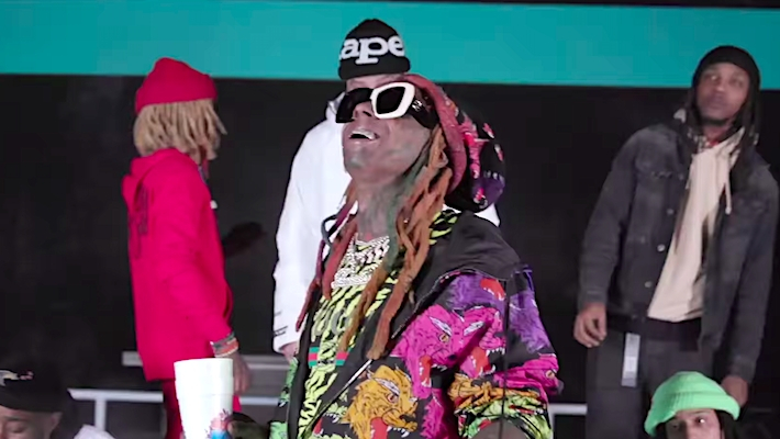 """Lil Wayne rides high inside the skate park in """"Thug Life"""" video"""