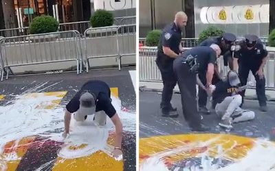Man arrested twice for destroying Black Lives Matter mural painting before Trump Tower