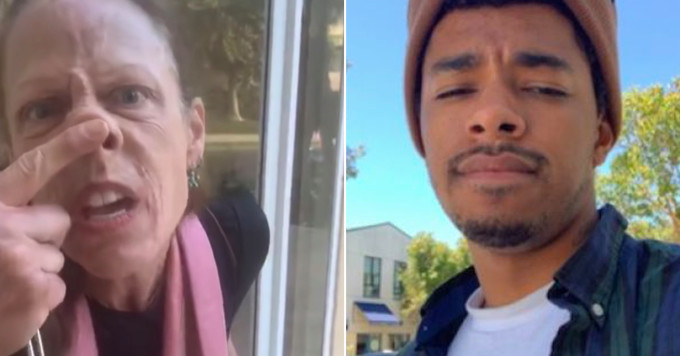 White woman won't let Black Postmates specialist deliver food in her building