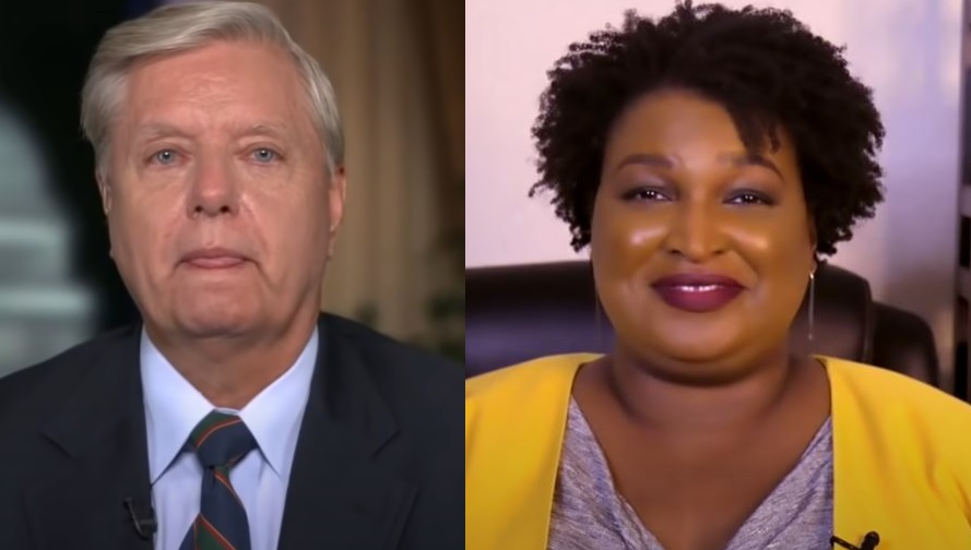 graham-abrams ACCORDING TO SEN. LINDSEY GRAHAM, GEORGIA REPUBLICANS WERE 'CONNED' BY STACEY ABRAMS