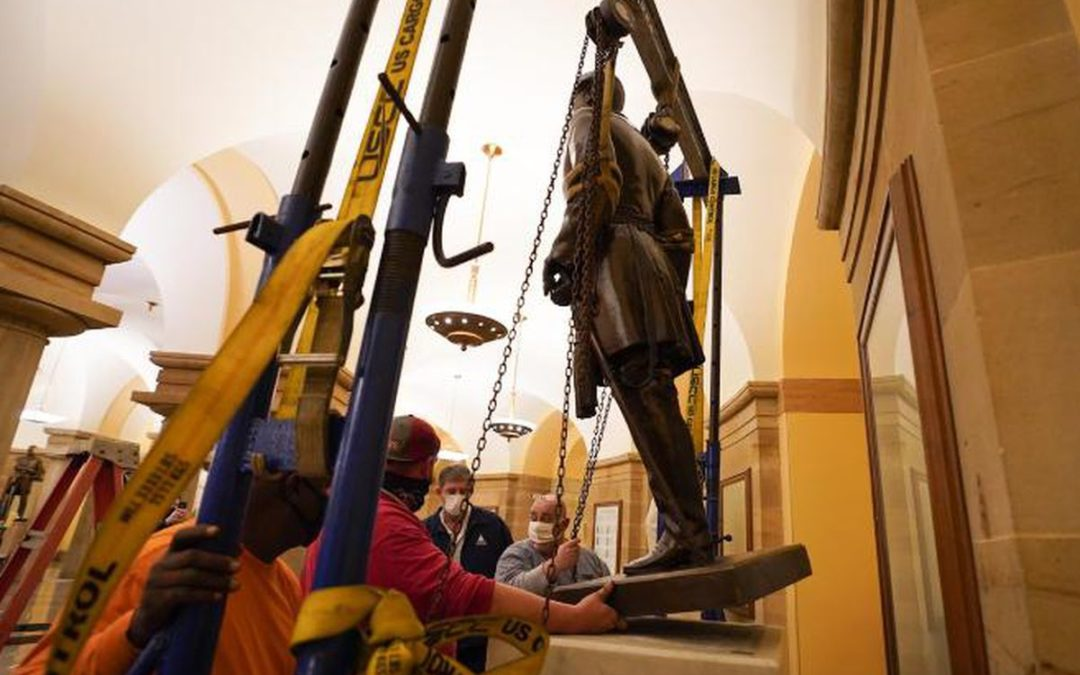 Statue of Robert E. Lee has been removed from U.S. Capitol