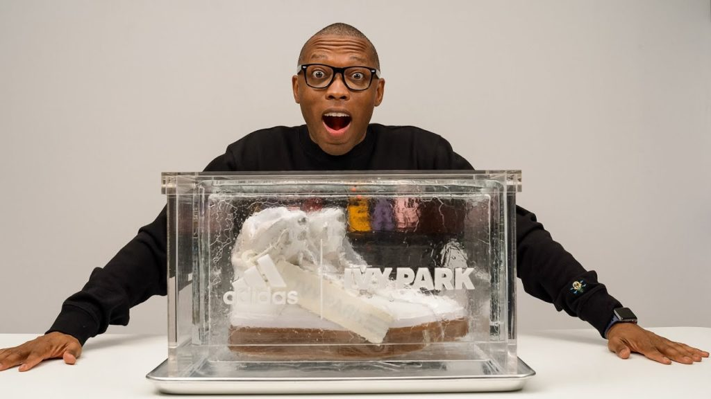 BEYONCE AND ADIDAS SENT ME A SNEAKER IN ICE...LITERALLY