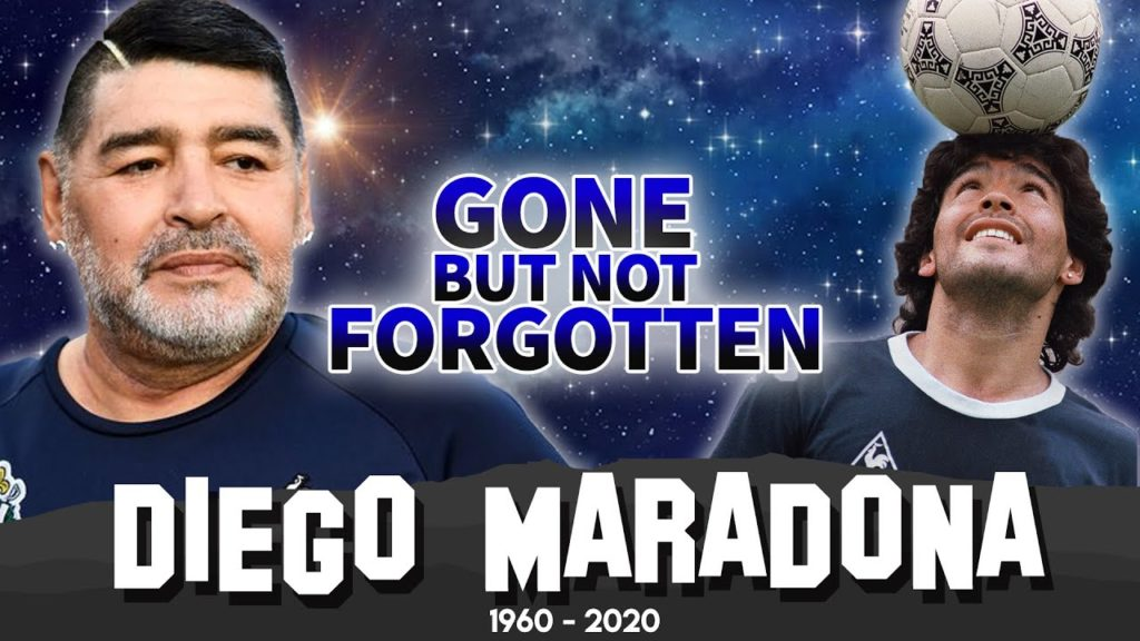 DIEGO MARADONA | GONE BUT NOT FORGOTTEN | ARGENTINE FOOTBALLER FAMOUS FOR ' THE HAND OF GOD '