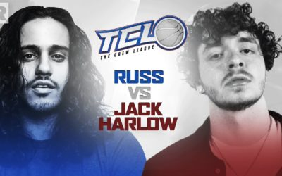 Russ & Jack Harlow Compete In A Basketball Game Hosted By Druski & 24K Goldn | The Crew League