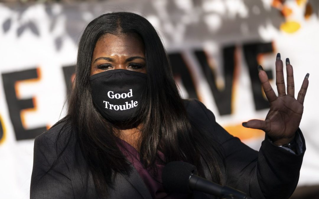 """Rep. Cori Bush decided to move her U.S. Capitol office following Georgia's Marjorie Taylor Greene's move to """"berate"""" her"""