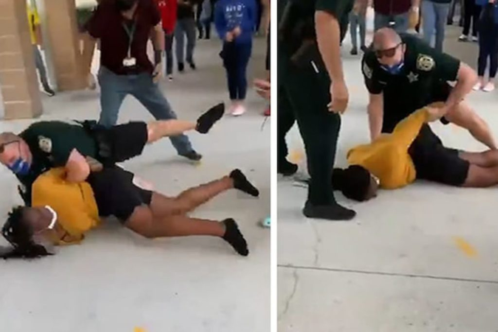 FLORIDA STUDENTS DEMAND THE FIRING OF OFFICER WHO BODY-SLAMMED TEENAGER