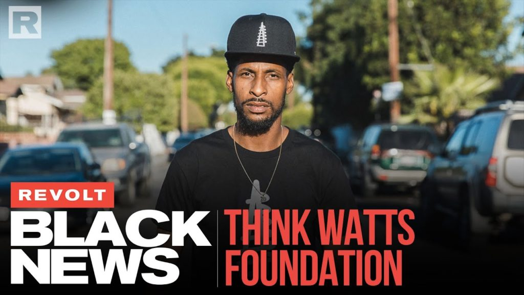 STIX'S THINK WATTS FOUNDATION FIGHTS FINANCIAL ILLITERACY & HOMELESS IN HIS HOME   REVOLT BLACK NEWS